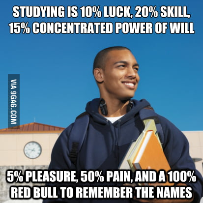 The elements of studying.