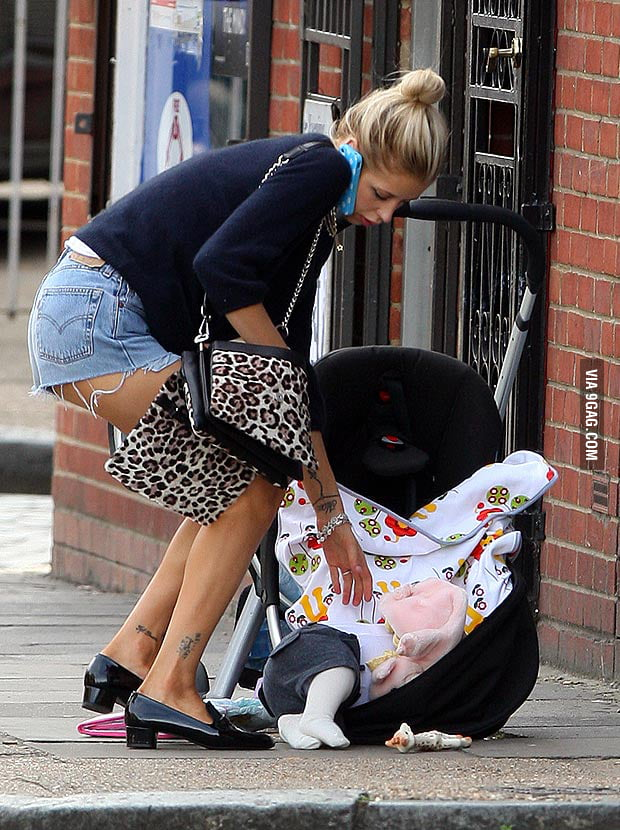 Whoops! Oh nothing, just dropped the baby..