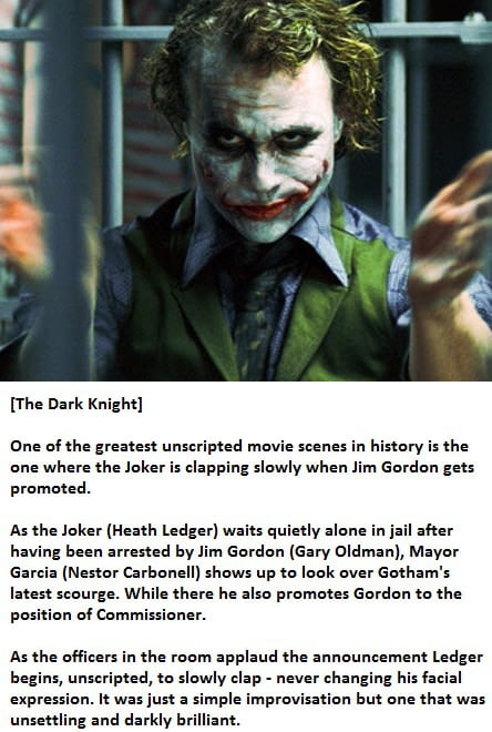 Respect for Heath Ledger.