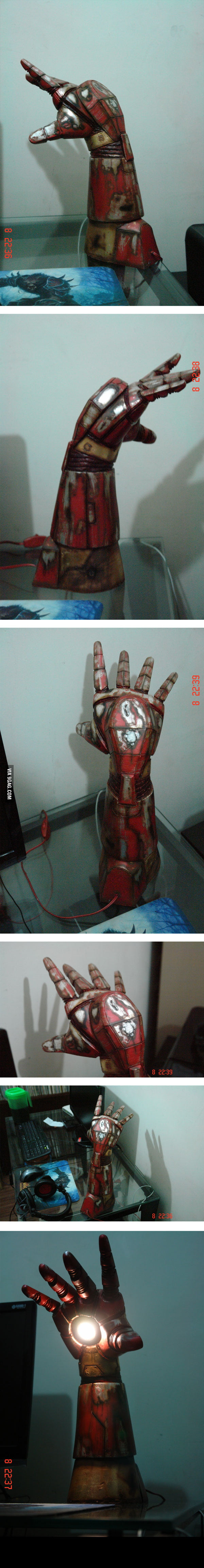 Iron Man night light (made by my friend Sérgio Oliveira)