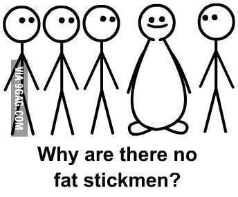 Yeah, why are there no fat stickmen?