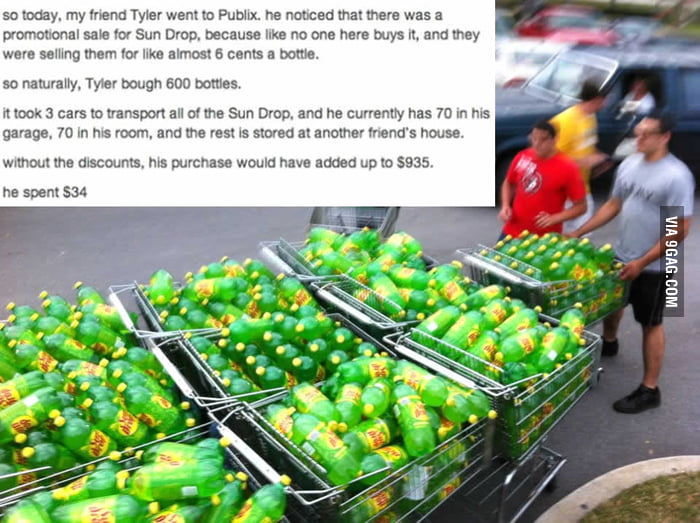 A sale for sun drop
