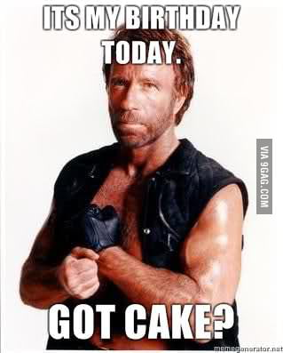 Magnificent Happy Birthday Chuck Norris 73 Years Old 9Gag Personalised Birthday Cards Sponlily Jamesorg