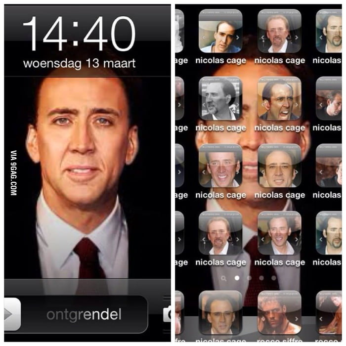 So we 'Caged' a friend's Iphone today during class!