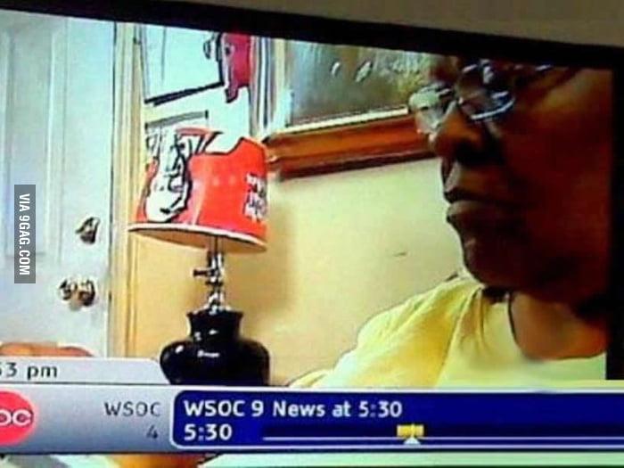 KFC is rocking that lamp!