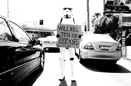 Will kill jedi for cookies