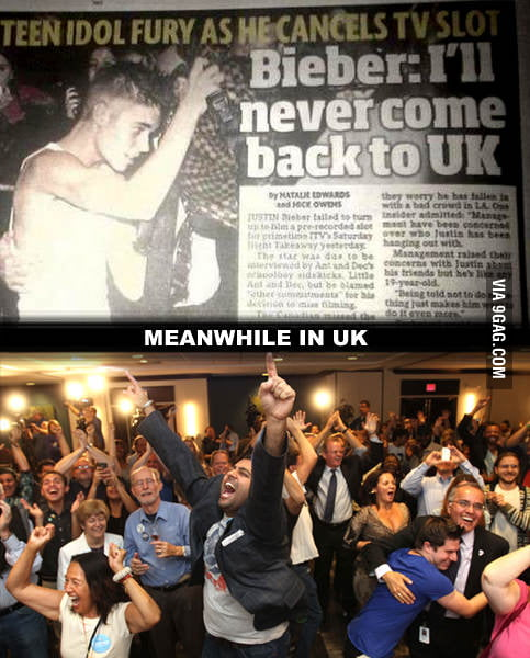 Justin Bieber will never come back to UK...
