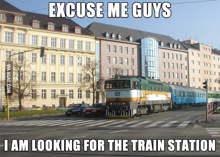 Confused train