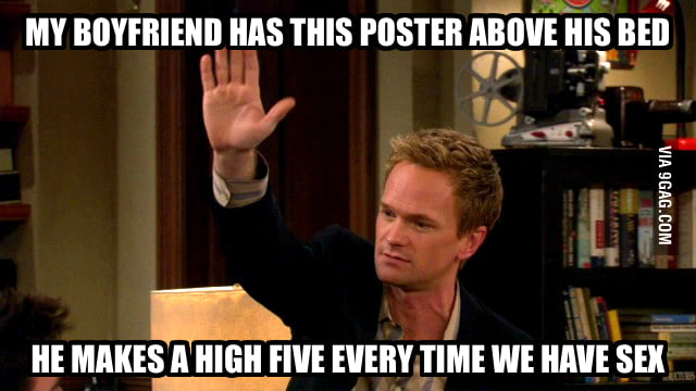 High five with Barney!