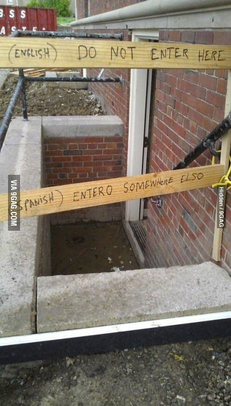 Do not enter here!