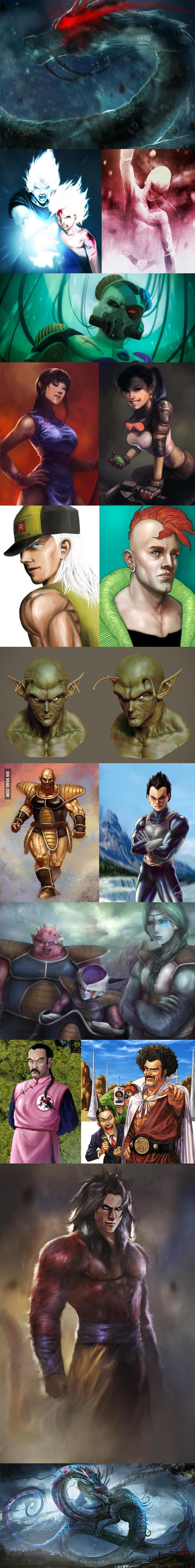 Dragon Ball Z: Realistic art compilation