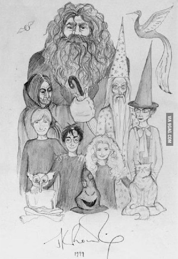 A drawing made by J.K. Rowling in 1999
