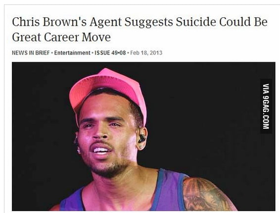Chris Browns agent suggests..
