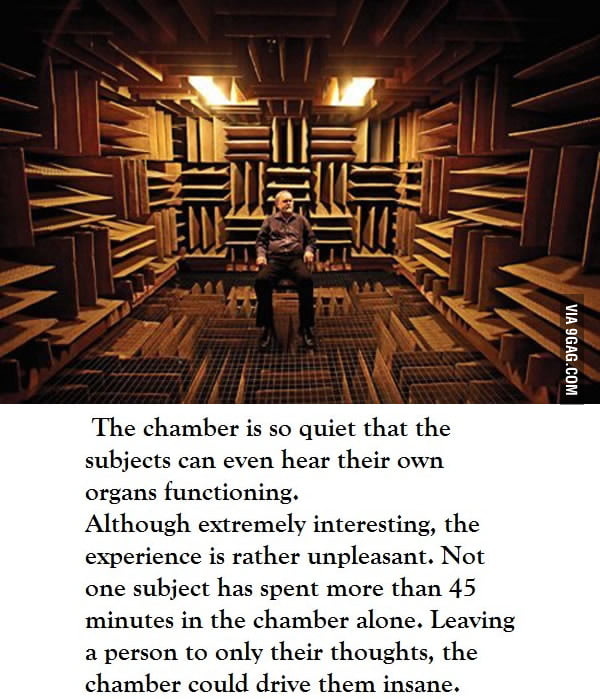 The world\'s quietest room - 9GAG