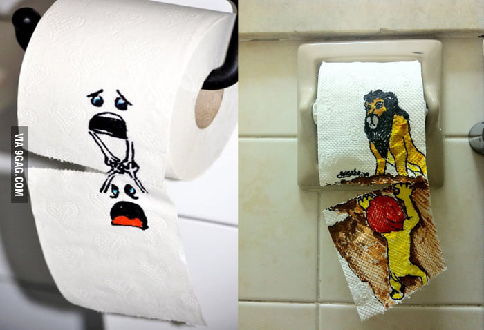 So I saw that toilet paper post... So I made something contrary to it hahaha
