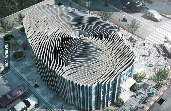 Finger print building in Thailand.