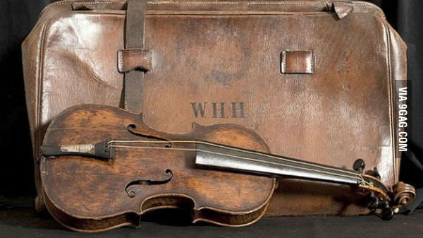 This violin belonged to Wallace Hartley, the chief of the orchestra on the Titanic.