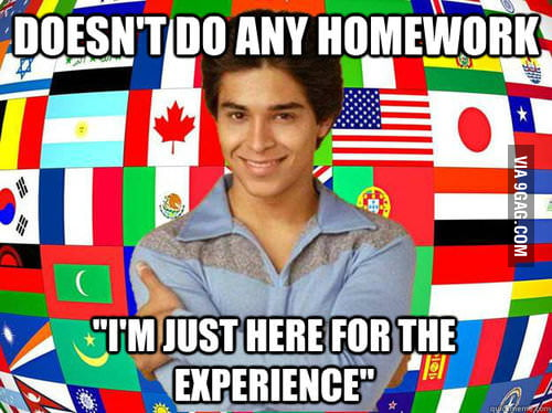 Scumbag exchange student