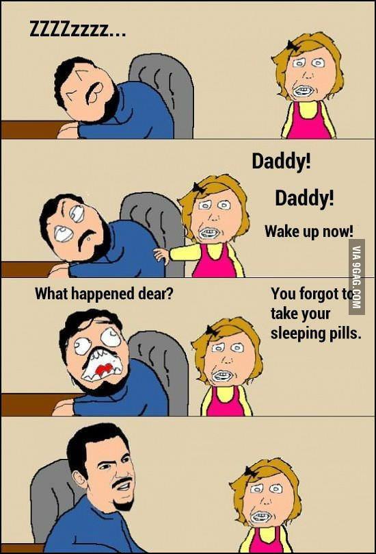 Daddy you forgot something!