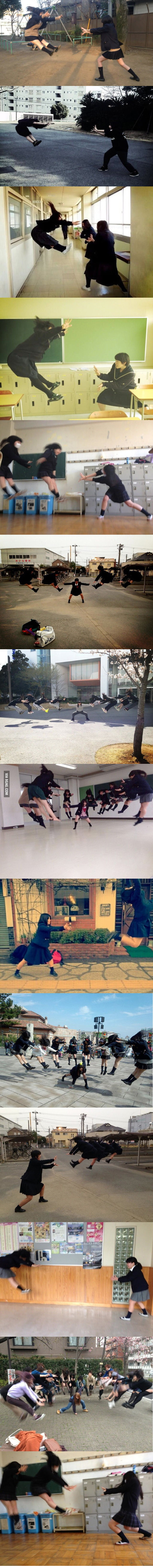 New japanese schoolgirls' hobby