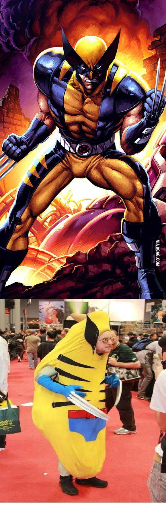 Wolverine cosplay.. Nailed it!