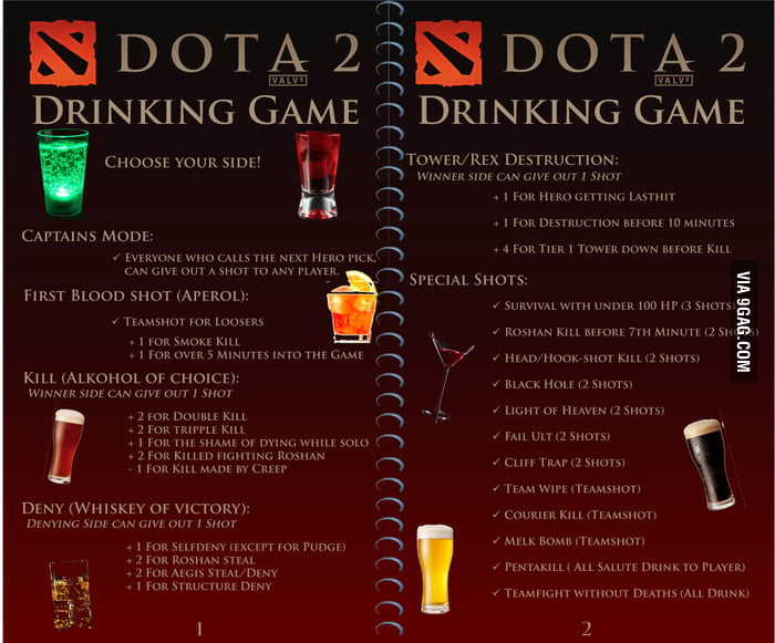 Dota 2 Drinking Game