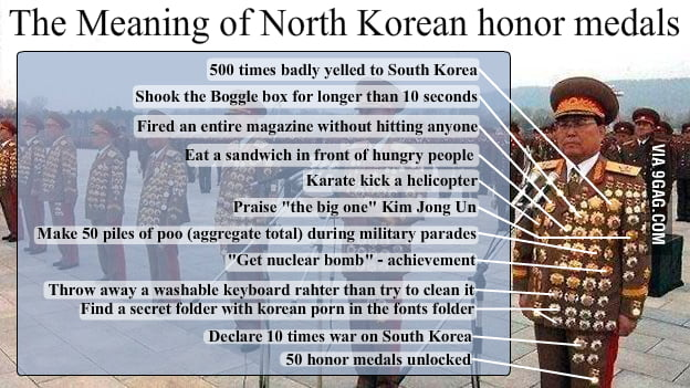 North Korea Military Porn - Meaning of North Korean Military Honor Medals