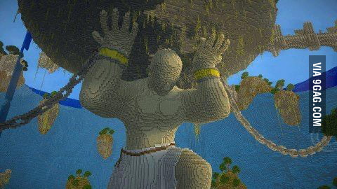 Amazing minecraft statue!
