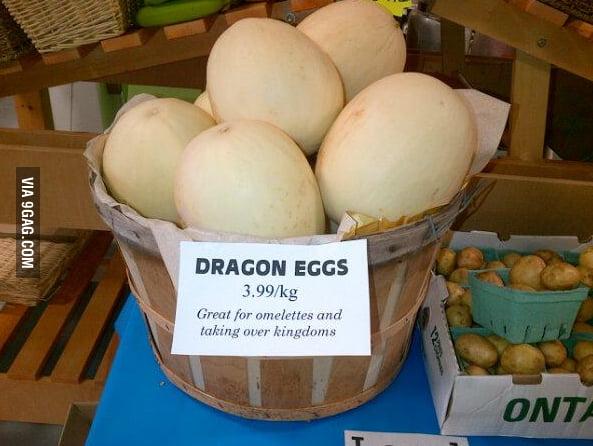 Some dragon eggs