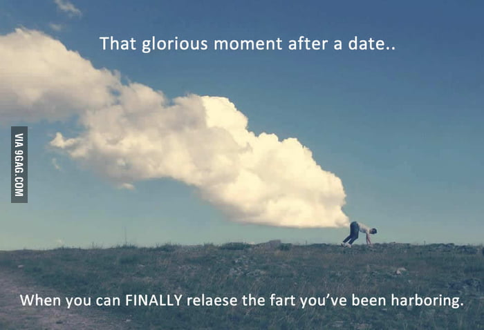 Glorious moment after a date