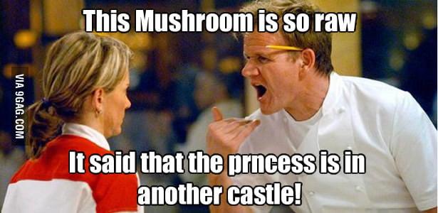 This mushroom is too raw!