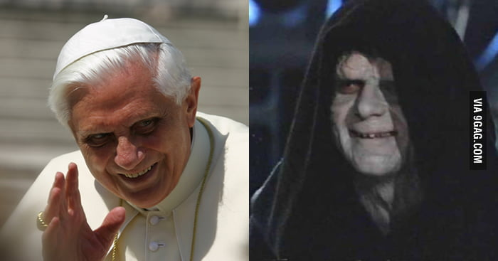 Pope Benedict XVI Vs Darth Sidious 9GAG