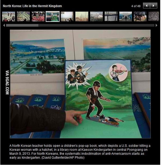 Childrens Pop Up Book In North Korea 9gag