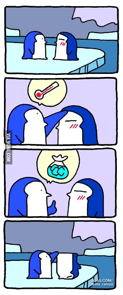 When a penguin gets sick