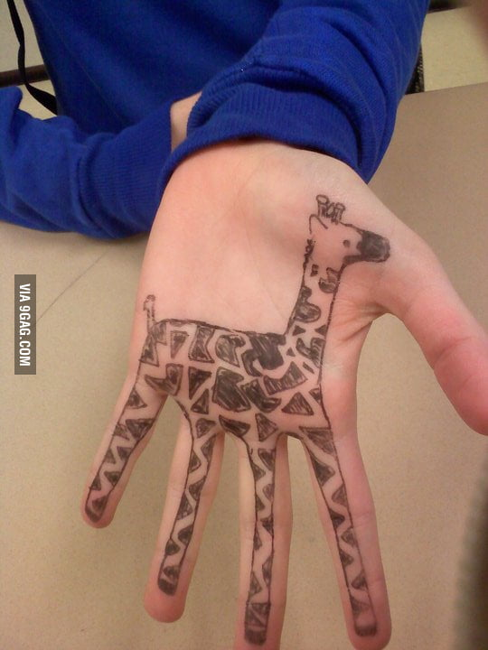 I know giraffes like I know the back, err.. front of my hand