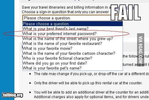 Security Question FAIL