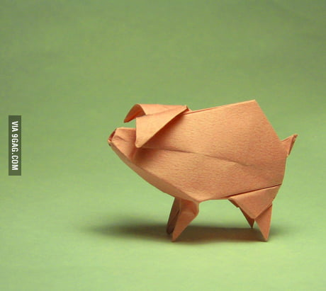 How to make origami Pig face - YouTube | 411x460