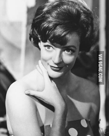 Just young Maggie Smith (Prof. McGonagall from Harry Potter)