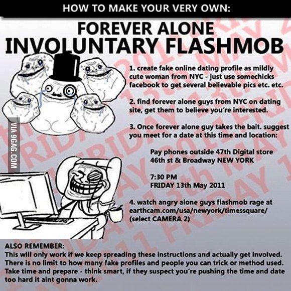 Forever alone flashmob