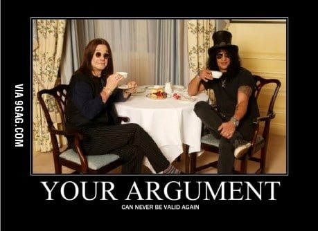 Just Slash and Ozzy drinking tea