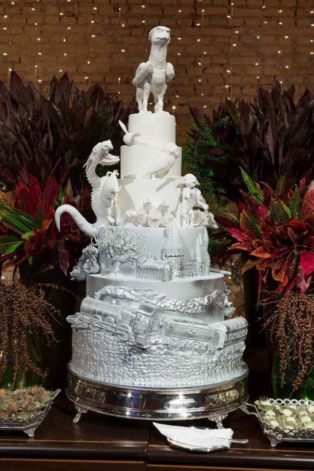 Harry Potter Wedding Cake.Our Harry Potter Wedding Cake By Rickzavala Do You Like It