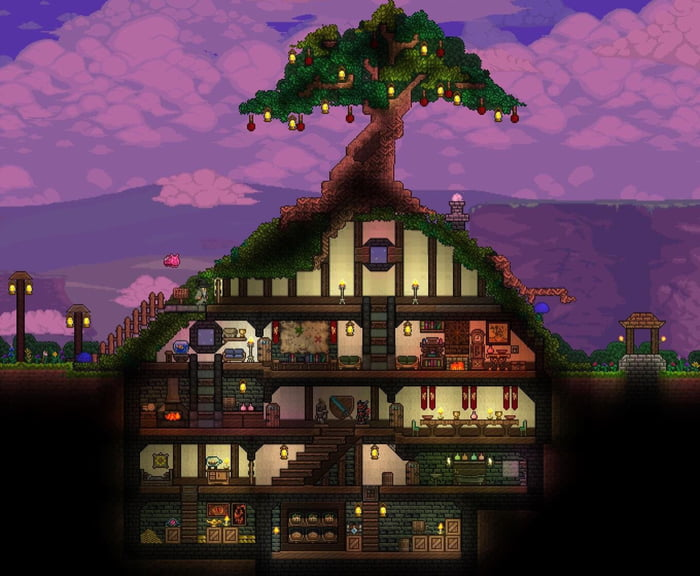 terraria hobbit hole house design inspired by lotr