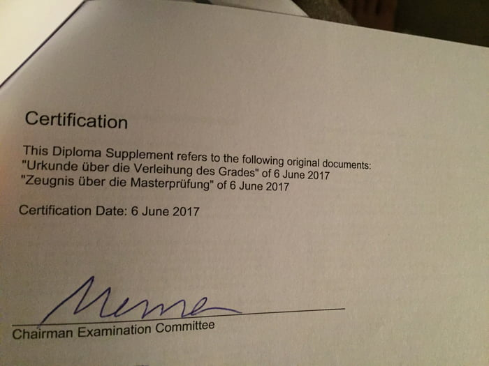 The Chairman Examination Committee Signed My Diploma With Meme 9gag