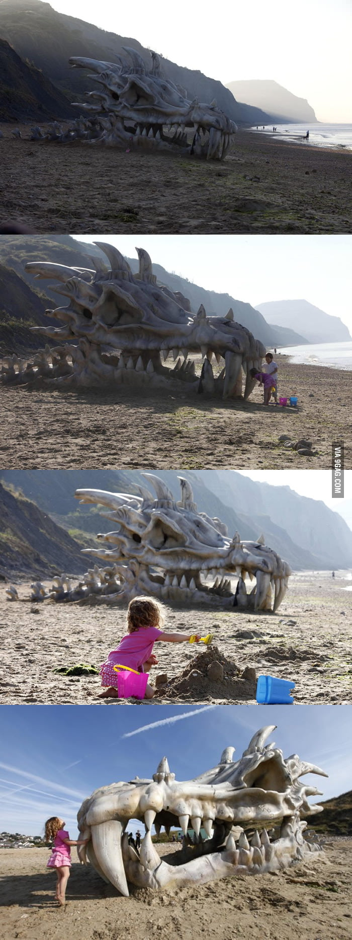 Huge dragon head 'found' on British coast!