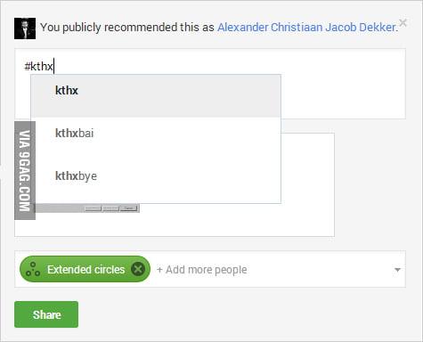 Oh, Google+