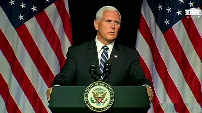 Mike Pence on the Space Force with Halo Theme.