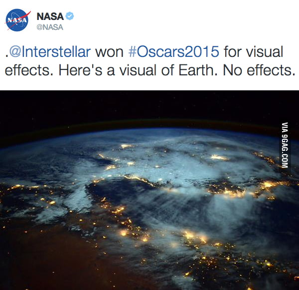 NASA Shows Its Love To Interstellar