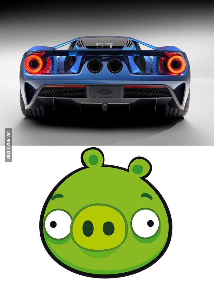 Am I The Only One Who Thinks The New Ford Gts Back Looks Like A Pig From Angry Birds