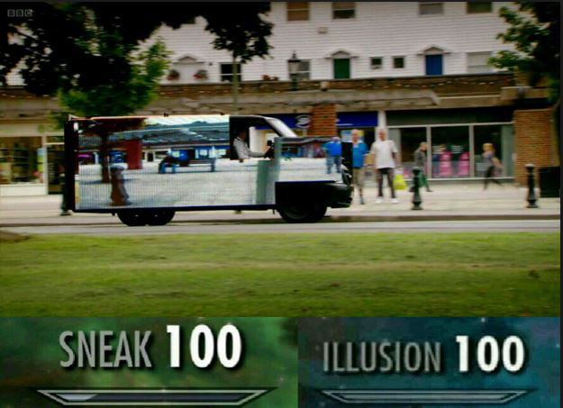 For the area 51 raid  Use invisible van from top gear, mate    sneak