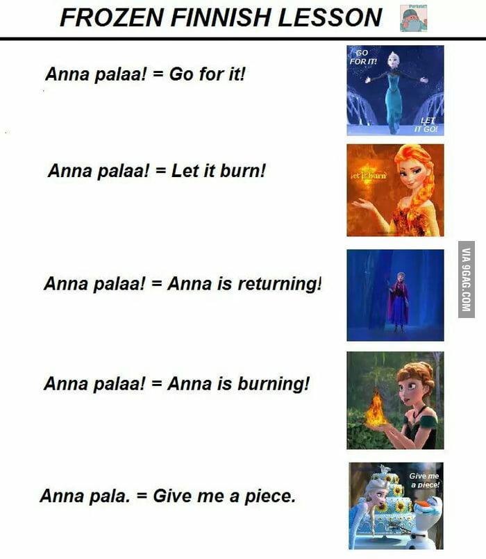 Frozen Finnish lesson - 9GAG